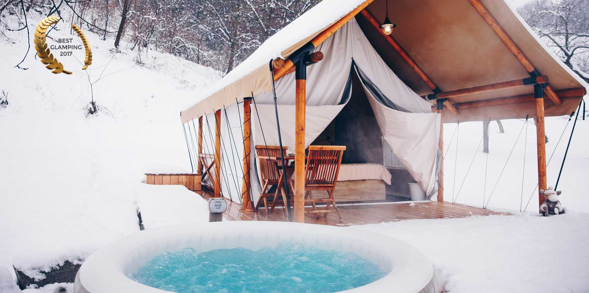 Winter Glamping fairytale